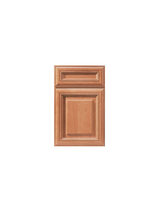 Cherry Door Styles from Wellborn Cabinet, Inc. - Our popular puffy miter design of Savannah Cherry offers a refined elegance with the rich appeal of deep cherry finishes.