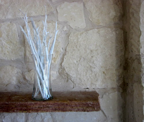 White Vase Filler Decorative White Wash Branches By