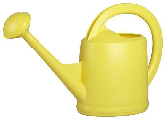 Yellow watering can contemporary watering cans by for Gardening tools watering