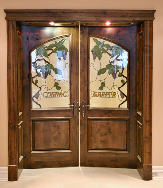 Interior Custom Double Arc 2 Panel Glass Door And Archway