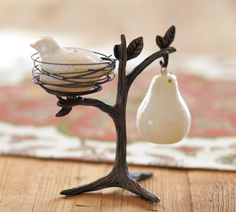 Partridge in a Pear Tree Salt & Pepper Shakers modern serveware
