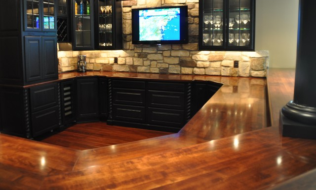 Cherry Solid Wood Bar Top by Grothouse traditional-kitchen-countertops