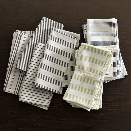 Yarn Dyed Organic Napkin modern table linens