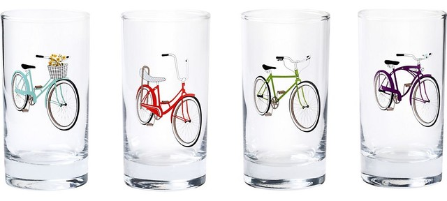 Retro Bike Glasses eclectic glassware