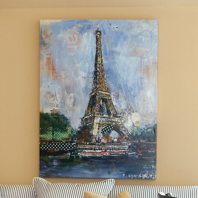 Small Eiffel Tower Wall Decor : Eiffel tower collage giclee small traditional prints
