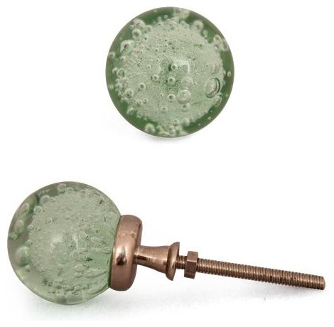 Glass knobs, Aqua - Light Sea Green Small, Set of Two - Contemporary - Cabinet And Drawer Knobs ...