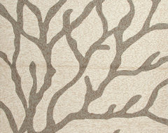 Abstract Pattern Ivory /White Indoor/ Outdoor Rug - CI09, 2x3 contemporary-rugs