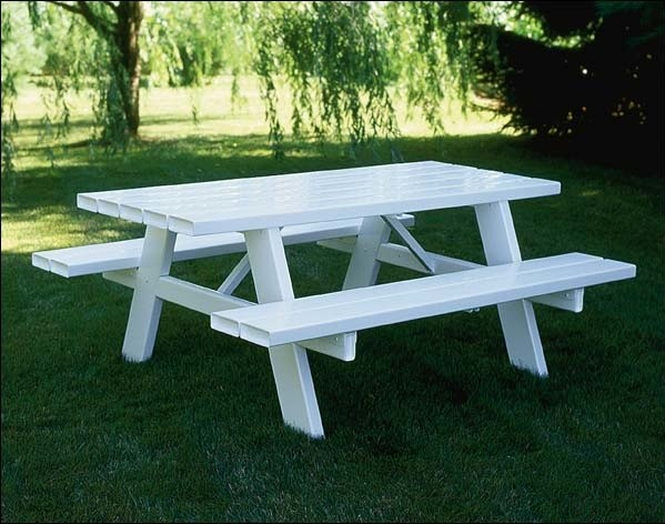 Vinyl picnic table contemporary outdoor dining tables for 10 person picnic table