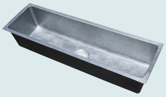 Metal Trough Sink : Zinc Sink Handcrafted Metal - Modern - Kitchen Sinks - austin - by ...