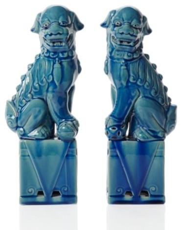 Ceramic Foo Dogs modern artwork