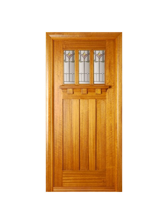 Doors by ABL Doors - This Hardwood Tuscany Tulip door from ABL Doors allows you to have a stunning entrance for all visitors. The tulip style bevelled units add a touch of class to the doorframe, framed underneath the elegant tulip style glass.