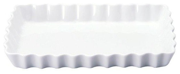 White Fluted Oven Dish traditional-pie-and-tart-pans