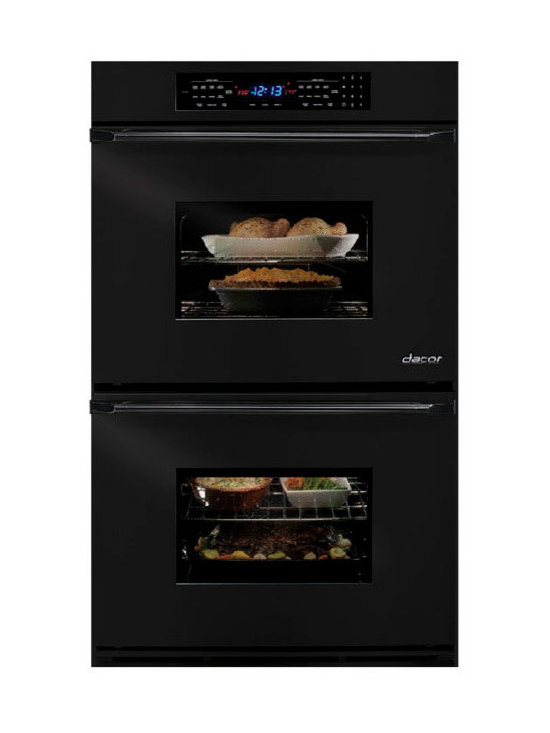 """Dacor Epicure Renaissance 30"""" Double Electric Wall Oven, Black 