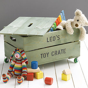 Personalised Toy Crate contemporary-baby-toys