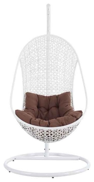 Modway - The Bestow Rattan Outdoor Patio Swing Chair - Eei-807-Set traditional-outdoor-chairs