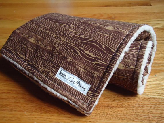 Baby Blanket, Joel Dewberry Woodgrain Bark by Rocky Loves Penny contemporary-baby-bedding