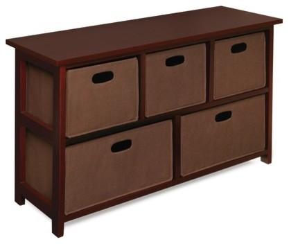 5 Fabric Folding Basket Storage Unit modern-storage-and-organization
