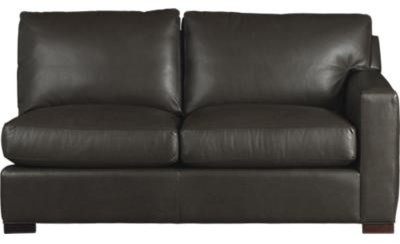 Axis II Leather Right Arm Sectional Full Sleeper Sofa contemporary-sofa-beds