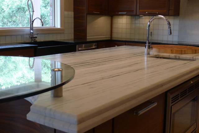 contemporary kitchen countertops by Susan Brook Interiors