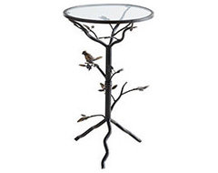 Perched Bird Accent Table contemporary-outdoor-side-tables