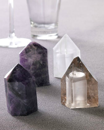 Roost Crystal Salt and Pepper Shakers, Amethyst traditional tabletop