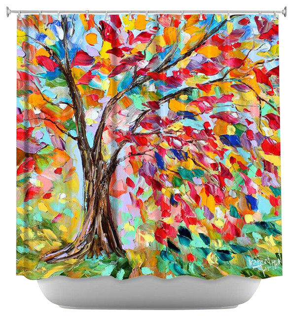 Colorful Tree Shower Curtain Shower curtain artistic