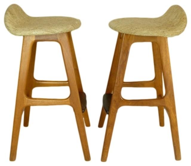 Danish Teak Stools by Erik Buck midcentury bar stools and  : midcentury bar stools and counter stools from www.houzz.com size 640 x 556 jpeg 46kB