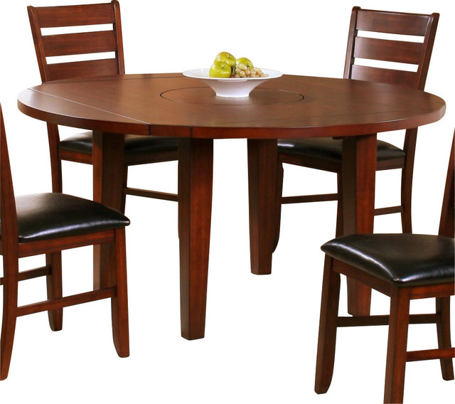 drop leaf round dining table in dark oak traditional dining tables