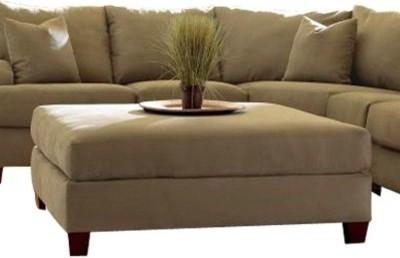 Klaussner E64863 Canyon Ottoman - Celadon modern-footstools-and-ottomans