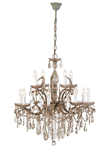 Smoked Glass 8 Arm Chandelier traditional chandeliers