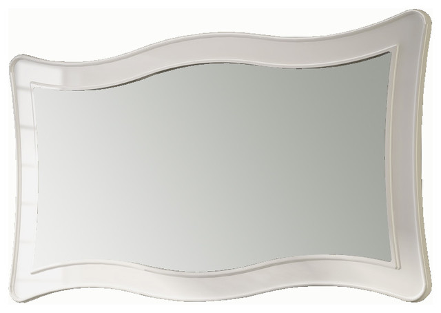 "Ondas 59"" framed mirror. white. eclectic-bathroom-mirrors"