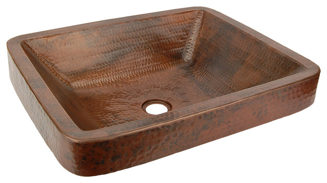 Copper Sink Rustic Bathroom Sinks Other Metro By Lucido Luxe