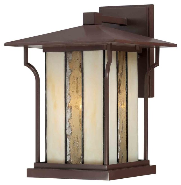Quoizel LNG8409CHB Langston Chocolate Bronze Outdoor Wall Sconce craftsman-outdoor-lighting