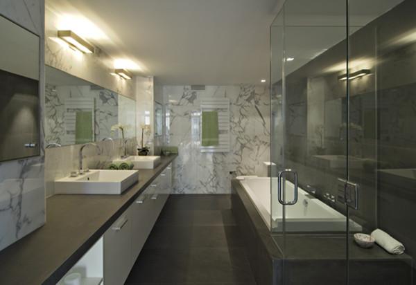92 Warren Condos modern-bathroom