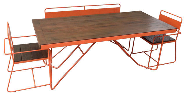 REPAST Table Bench And Chair Modern Outdoor Dining Sets Los Angeles