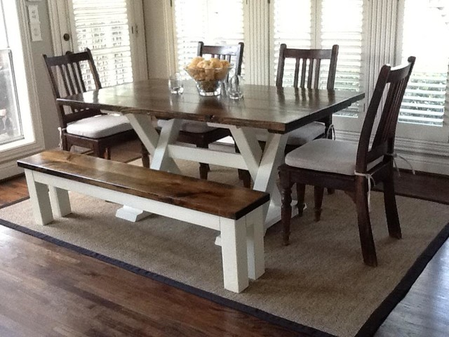 6ft Trestle Dining Table Craftsman Dining Tables Other Metro