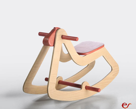 Wooden Rocking Horse C03 by Emanuel Rufo -