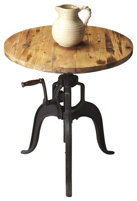 Adjustable Industrial Recycled Distressed Wood Pub Table