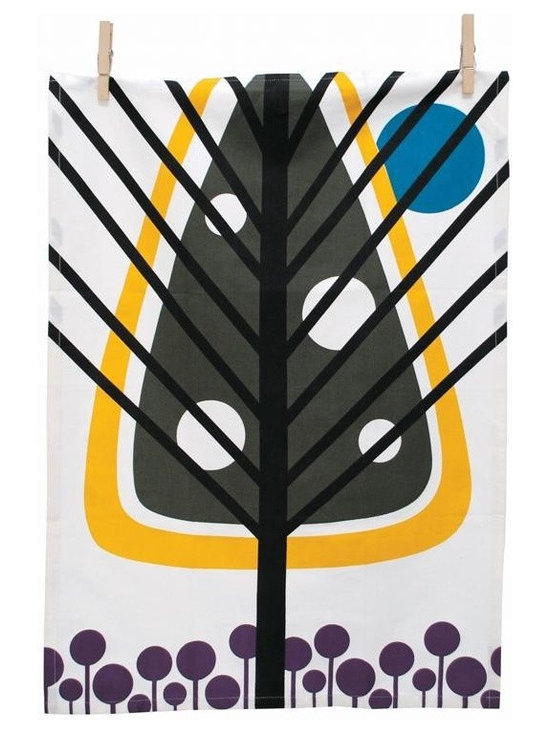 Ferm Living Pine Tea Towel - The Tea Towels by Ferm Living are fashionable, functional and fabulous. They are printed on 100% organic cotton and will without a doubt make doing the dishes a pleasure.