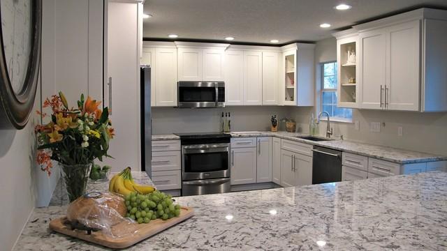 New Kitchen Using Cliq Studio Cabinets And Blue Ice