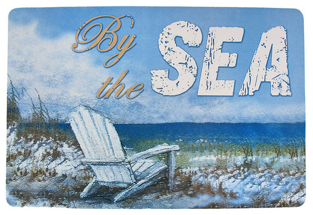 By the Sea Beach Themed Rubberized fort Mat 20 Inches