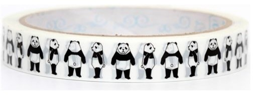 cute panda bears Deco Tape black panda Japan  accessories and decor