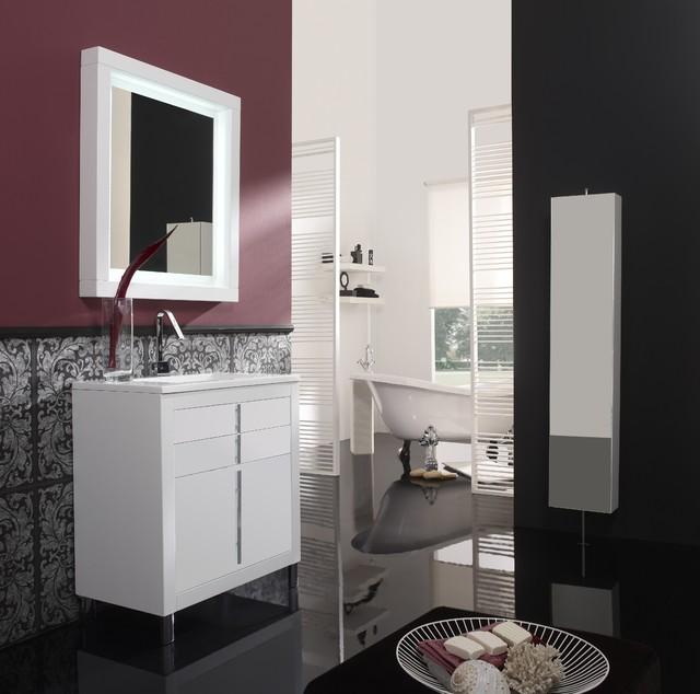Powder room. Bathroom vanities contemporary-bathroom-cabinets-and-shelves