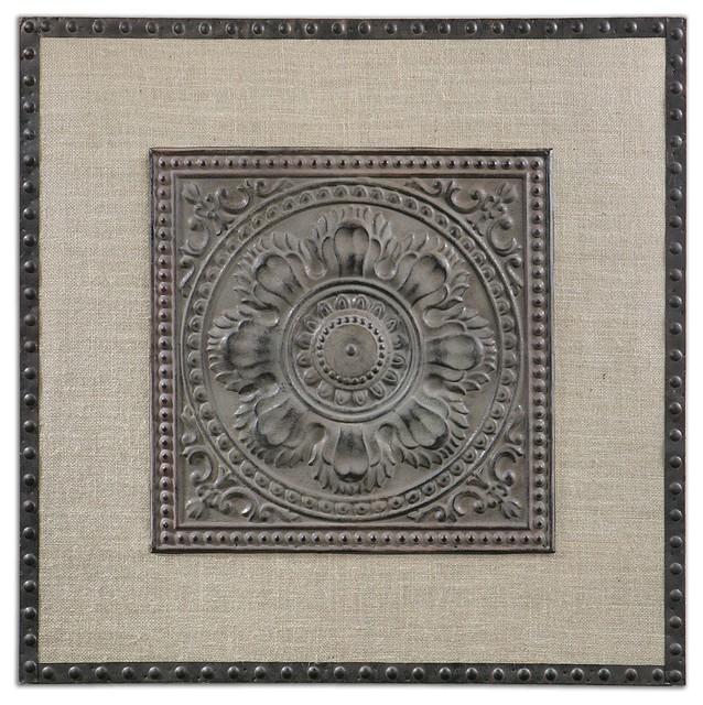 Filandari Stamped Metal Wall Art traditional-artwork