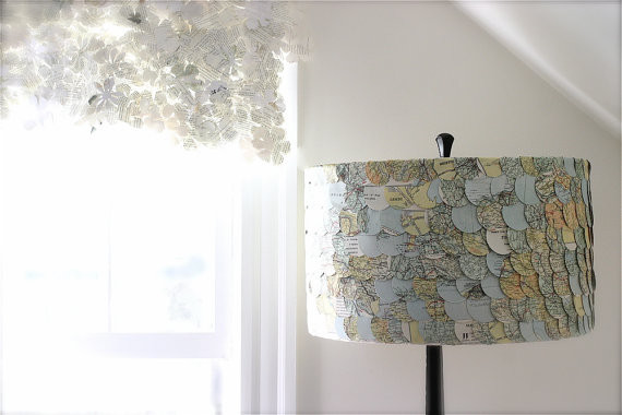 Map Lampshade by ECLU eclectic-lamp-shades