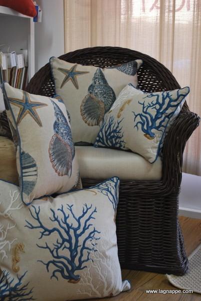 Coral throw pillows tropical-decorative-pillows