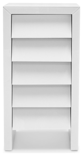 Weiss Shaker Style White Lacquer Chest contemporary-dressers