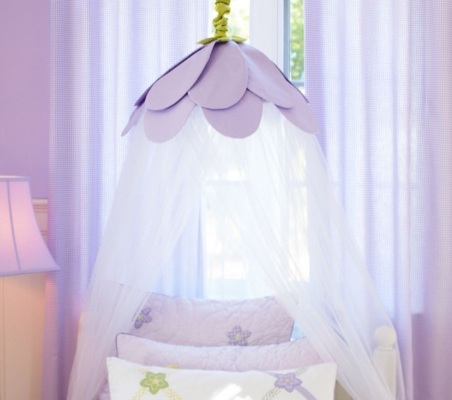 Lavender Petal Canopy traditional kids bedding