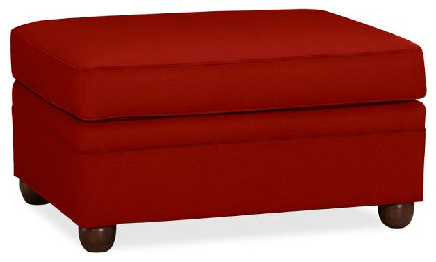 Chesterfield Ottoman Sierra Red Twill Contemporary