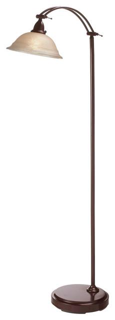 Dainolite DM314F-ES Adjustable Floor Lamp Espresso Finish Tea Stained Glass contemporary-floor-lamps